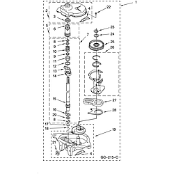 110258424 Automatic Washer Gearcase Parts diagram