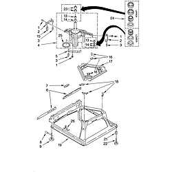110258424 Automatic Washer Machine base Parts diagram