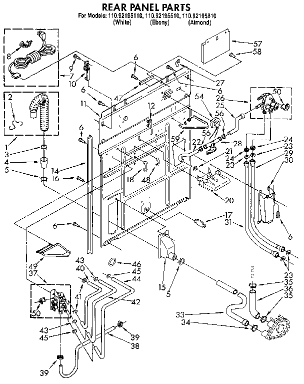 kenmore 1109219551 automatic washer timer stove clocks and 1109219551 automatic washer rear panel parts diagram