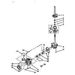 110985751 Washer/Dryer Brake,clutch,gearcase,motor&pump Parts diagram
