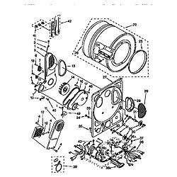 110985751 Washer/Dryer Dryer bulkhead Parts diagram