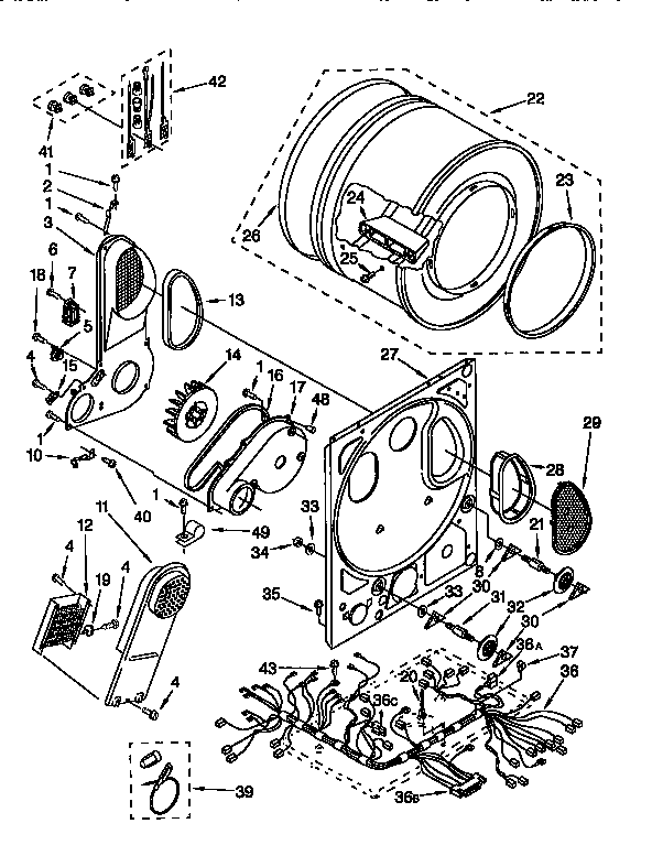 Dryer Parts Wiring Diagram
