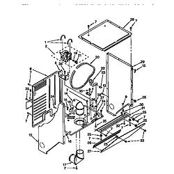 110985751 Washer/Dryer Dryer cabinet & motor Parts diagram