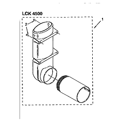 110985751 Washer/Dryer Exhaust deflector kit (complete) Parts diagram