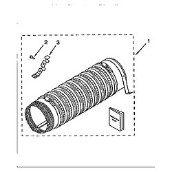 110985751 Washer/Dryer Side exhaust extension kit (comp) Parts diagram