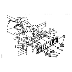 110985751 Washer/Dryer Washer/dryer control panel Parts diagram