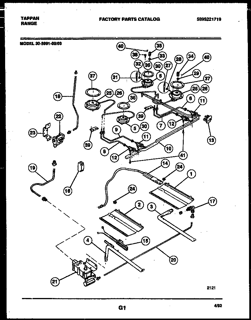 burner manifold and gas control parts tappan 3039910003 range gas timer stove clocks and appliance Thermador Cooktop Wiring-Diagram at edmiracle.co