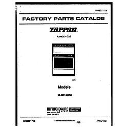 3039910003 Range - Gas Cover page Parts diagram