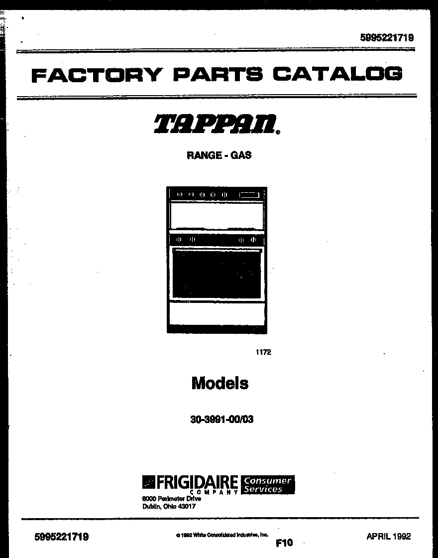 cover page parts tappan 3039910003 range gas timer stove clocks and appliance Thermador Cooktop Wiring-Diagram at edmiracle.co