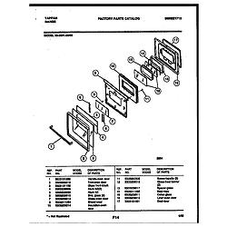 3039910003 Range - Gas Door Parts diagram