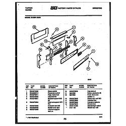 3039912303 Range - Gas Backguard Parts diagram