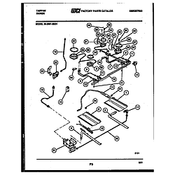 3039912303 Range - Gas Burner, manifold and gas control Parts diagram