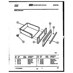 3039912303 Range - Gas Drawer Parts diagram