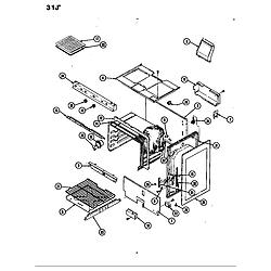 31JA5KX Range Body Parts diagram