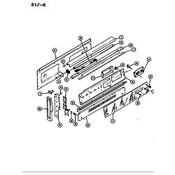 31JA5KX Range Control panel Parts diagram