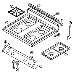 3468VVV Range Top assembly Parts diagram