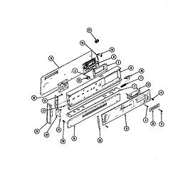 34JA3TKXWON Range Control panel Parts diagram