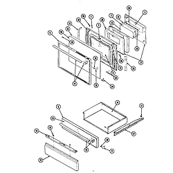 34JA3TKXWON Range Doors Parts diagram