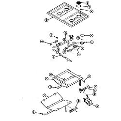 34JN3TKXW Range Burners Parts diagram