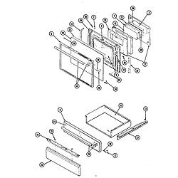 34JN3TKXW Range Doors Parts diagram
