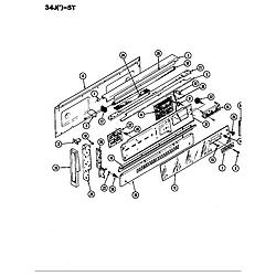 34JN5TKVW Range Control panel Parts diagram