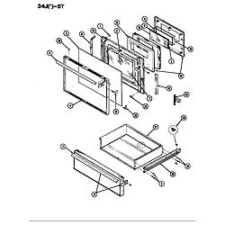 34JN5TKVW Range Door Parts diagram