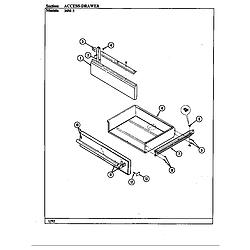 34MA3TKXW Range Access drawer Parts diagram