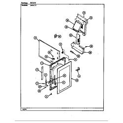 34MA3TKXW Range Body Parts diagram