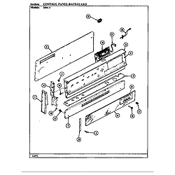 34MA3TKXW Range Control panel Parts diagram