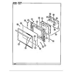 34MA3TKXW Range Door Parts diagram