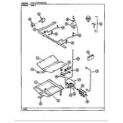 34MA3TKXW Range Gas controls Parts diagram