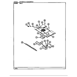 34MA3TKXW Range Internal controls Parts diagram