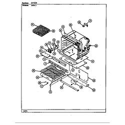 34MA3TKXW Range Oven Parts diagram