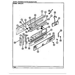 34MN5TKVW Range Control panel (34m*-5tkvw) (34ma-5tkvw) (34mn-5tkvw) Parts diagram