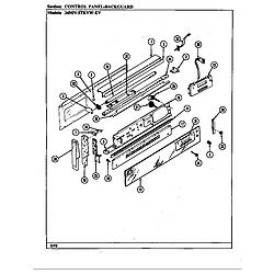 34MN5TKVW Range Control panel (34m*-5tkvw-ev) (34ma-5tkvw-ev) (34mn-5tkvw-ev) Parts diagram