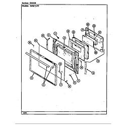 34MN5TKVW Range Door Parts diagram