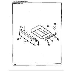 34MN5TKVW Range Drawer Parts diagram
