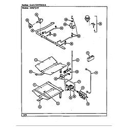 34MN5TKVW Range Gas controls Parts diagram
