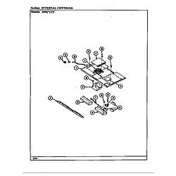 34MN5TKVW Range Internal controls Parts diagram
