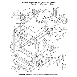 3627361193 Gas Range Cabinet Parts diagram
