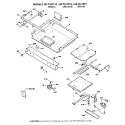 362736189 Gas Range Burner section Parts diagram