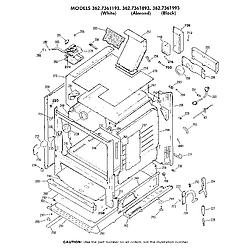 362736189 Gas Range Cabinet Parts diagram