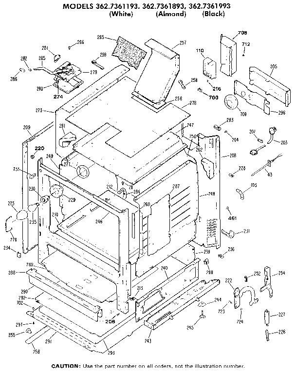 362736189 Gas Range Cabinet Parts Diagram