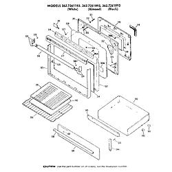 362736189 Gas Range Door Parts diagram