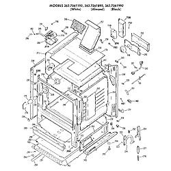 3627361892 Gas Range Cabinet Parts diagram