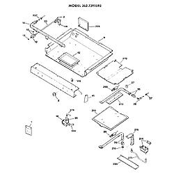 3627391593 Gas Range Burner section Parts diagram