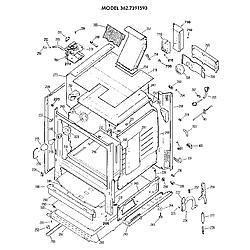 3627391593 Gas Range Cabinet Parts diagram
