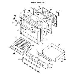 3627391593 Gas Range Door Parts diagram