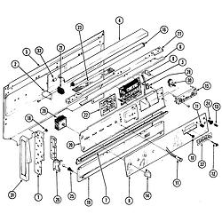 38HK6TXW Range Control panel Parts diagram