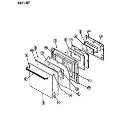 59F5TXW Range Door Parts diagram